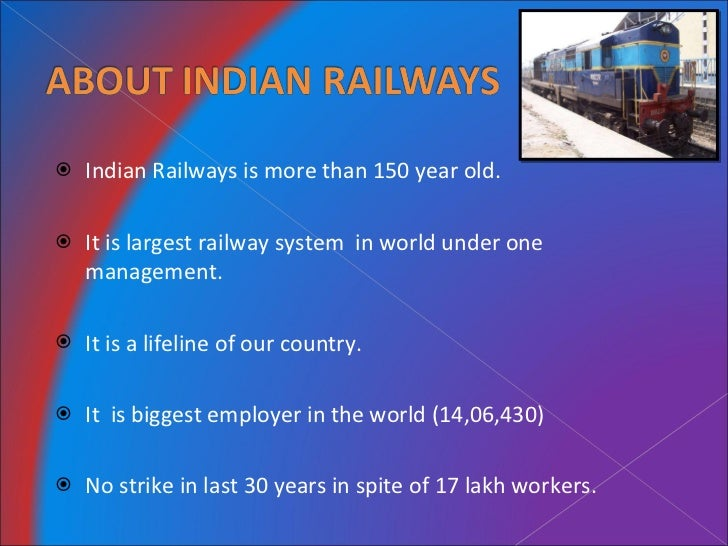 role of railways in indian economy To analyze the service sector growth in india 2 to analyze the implemented of health services role in economic development of any country larger part of the indian economy both in terms of employment potential and its contribution to national income.