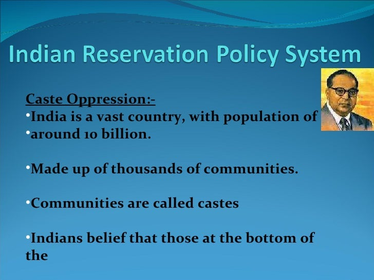 Reservation policy in india essay