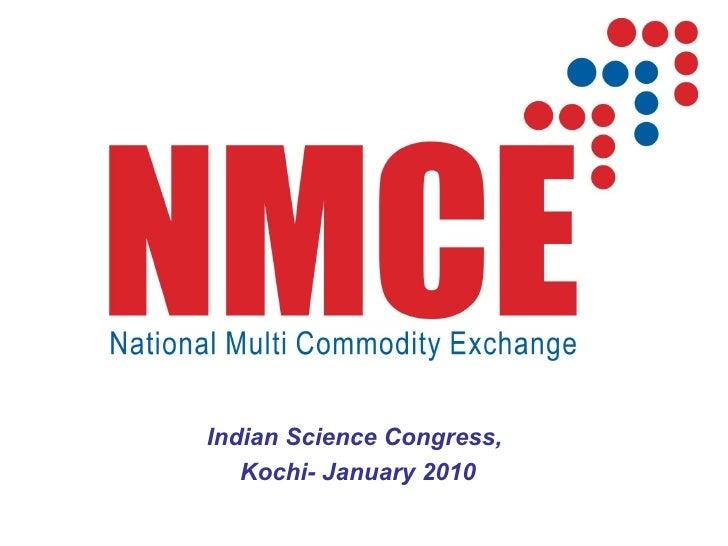 Indian Science Congress,  Kochi- January 2010