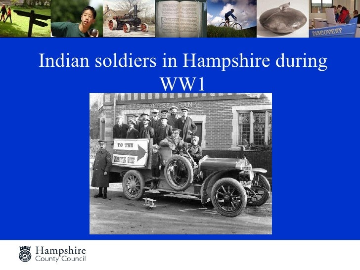 Indian soldiers in Hampshire during               WW1