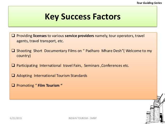 key success factors in tourism industry