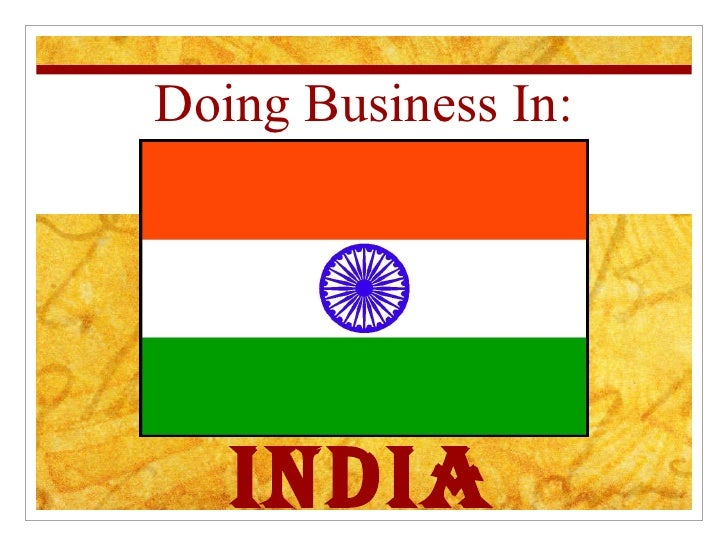 Doing Business In: India