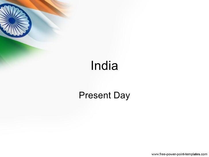 India Present Day