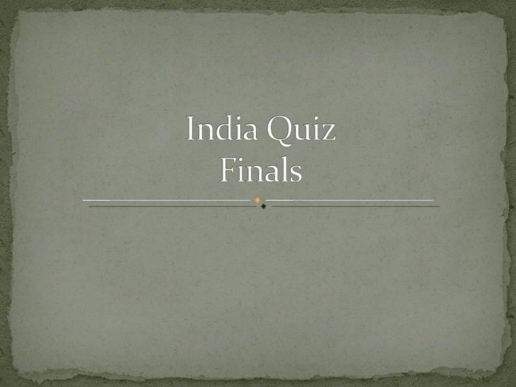 India Quiz Finals