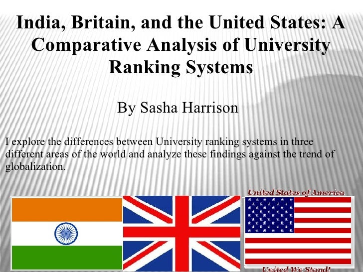 India, Britain, and the United States: A    Comparative Analysis of University             Ranking Systems                ...