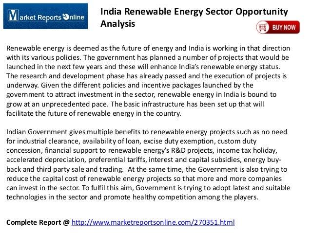 MRO: India Renewable Energy Market Opportunity Analysis