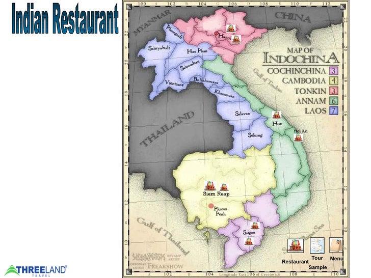 Indochina Tours - India restaurant   Threeland Travel