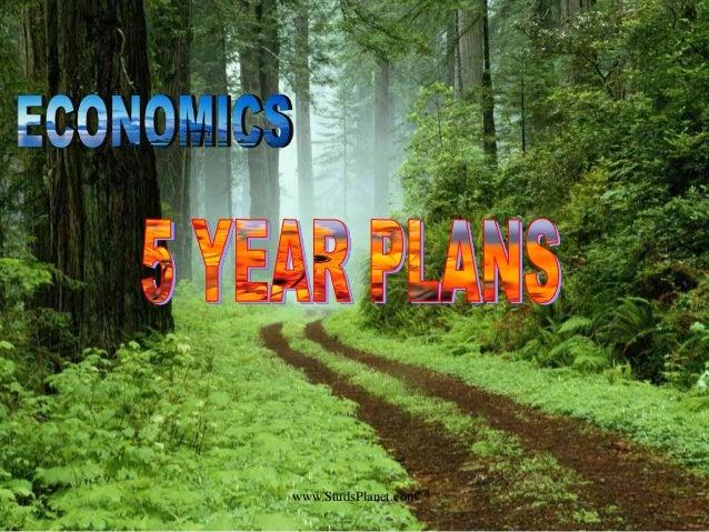 India's 5 year plan startegy