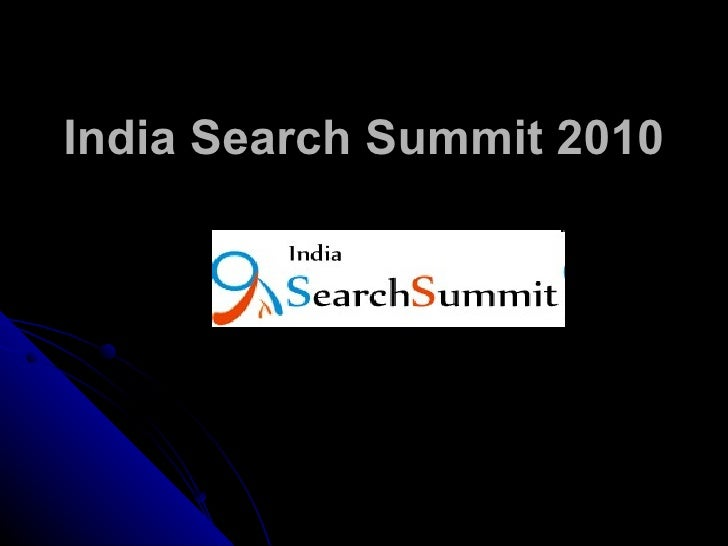 India Search Summit 2010