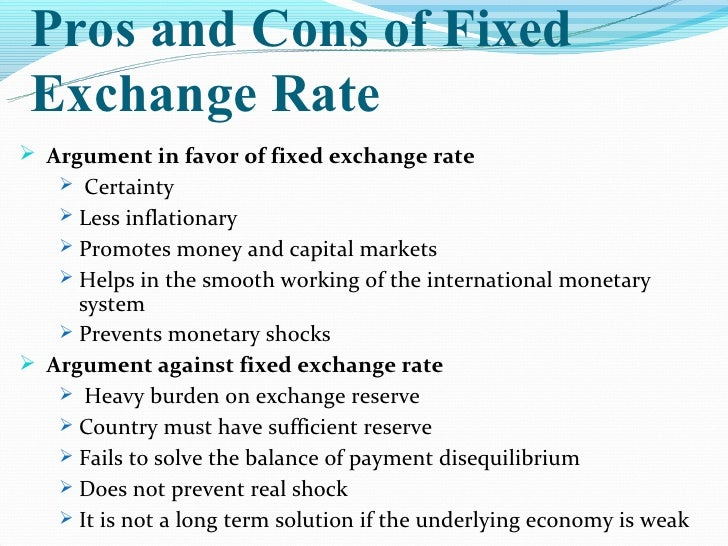 floating exchange rate system advantages and disadvantages