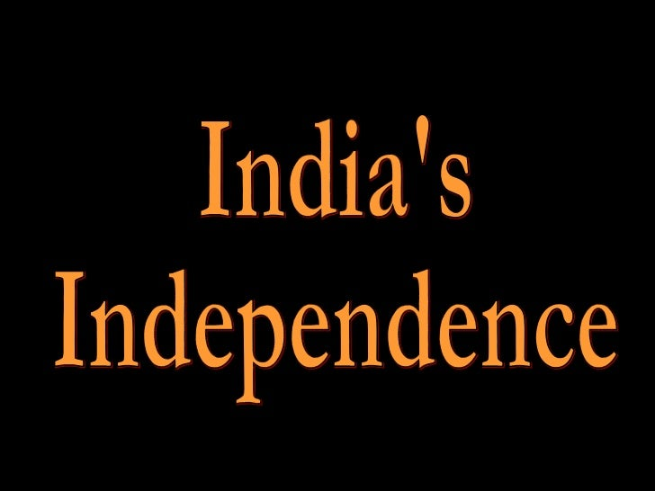 India's Indepencence
