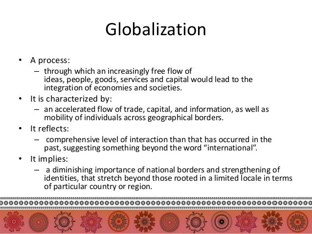globalisation process essay