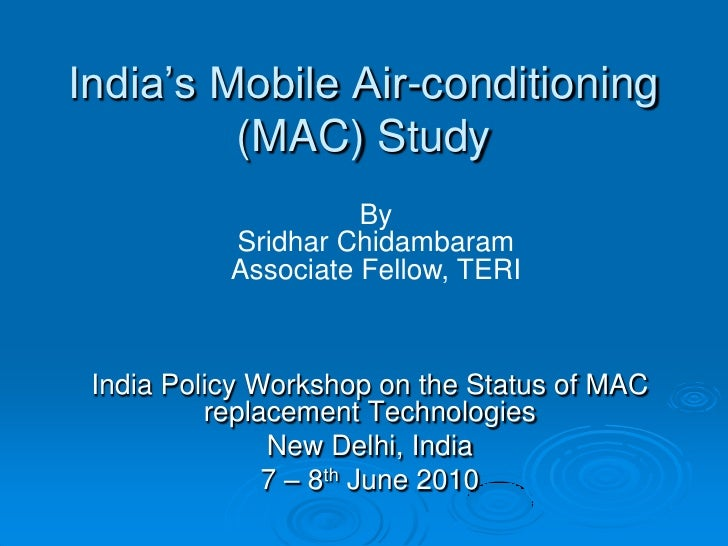 India's mobile air conditioning study
