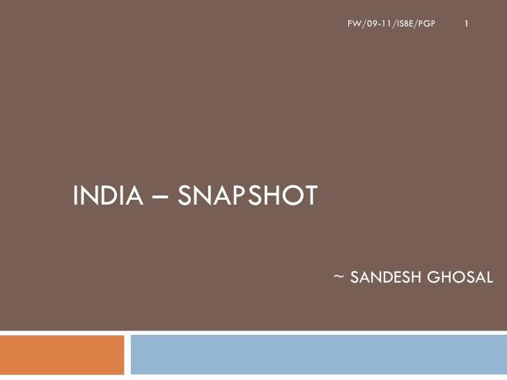 India – Snapshot