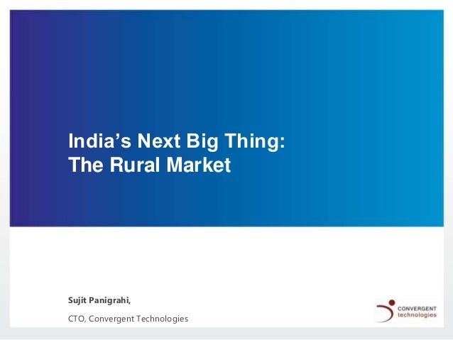 India's next big thing   the rural market