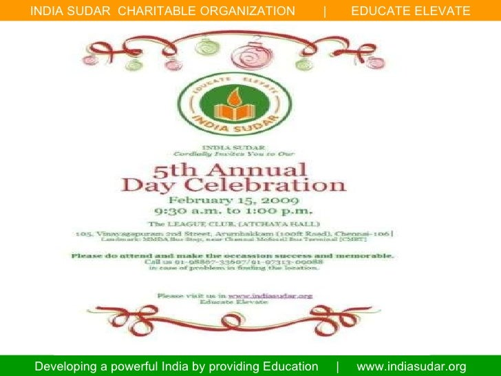 India sudar 5th annual day celebration