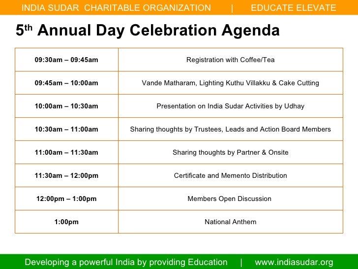 India sudar 5th annual day celebration