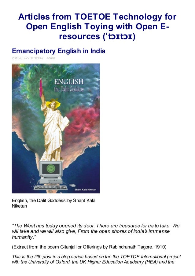 Articles from TOETOE Technology for    Open English Toying with Open E-              resources (ˈtɔɪtɔɪ)Emancipatory Engli...