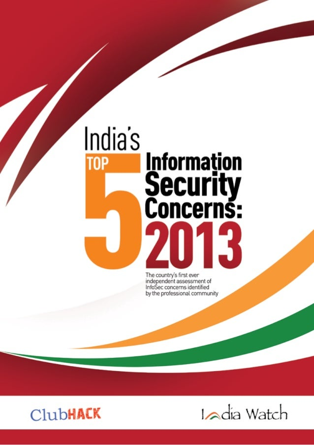 India Top5 Information Security Concerns 2013