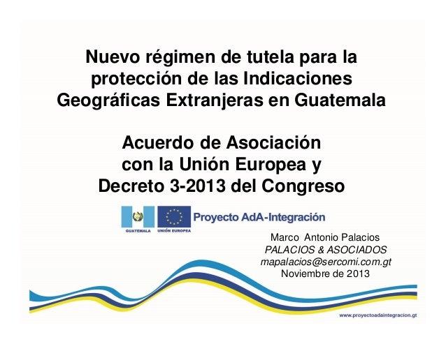 Régimen de tutela para Indicaciones geográficas