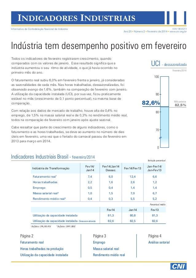 Indicadores Industriais   Fevereiro 2014   Divulgação 02/04/2014