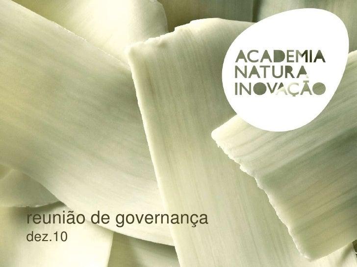 reunião de governança<br />dez.10<br />