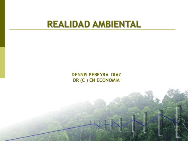 REALIDAD AMBIENTAL DENNIS PEREYRA DIAZ DR (C ) EN ECONOMIA