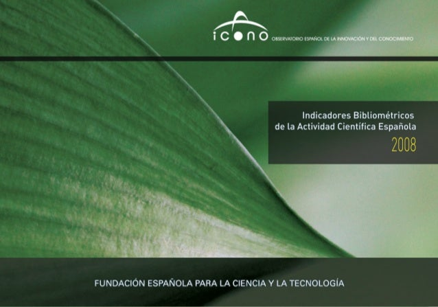 Indicadores bibliométricos de la actividad científica española : 2008