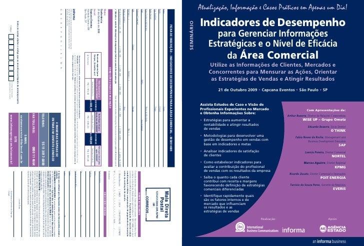 Atualização, Informação e Casos Práticos em Apenas um Dia!             Indicadores de Desempenho SEMINÁRIO                ...