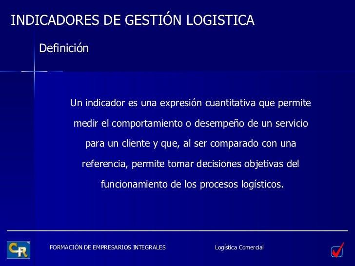 Indicadores De Gestión Logistica