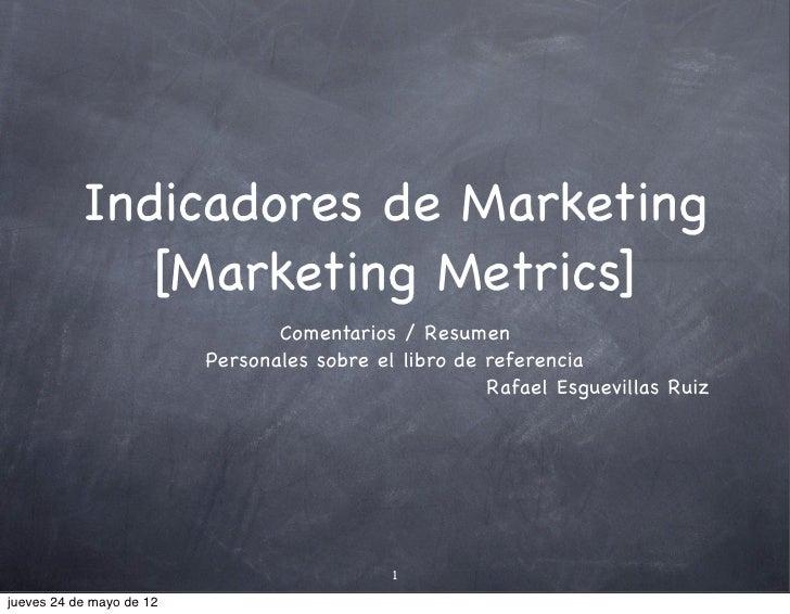 Indicadores de Marketing              [Marketing Metrics]                                 Comentarios / Resumen           ...