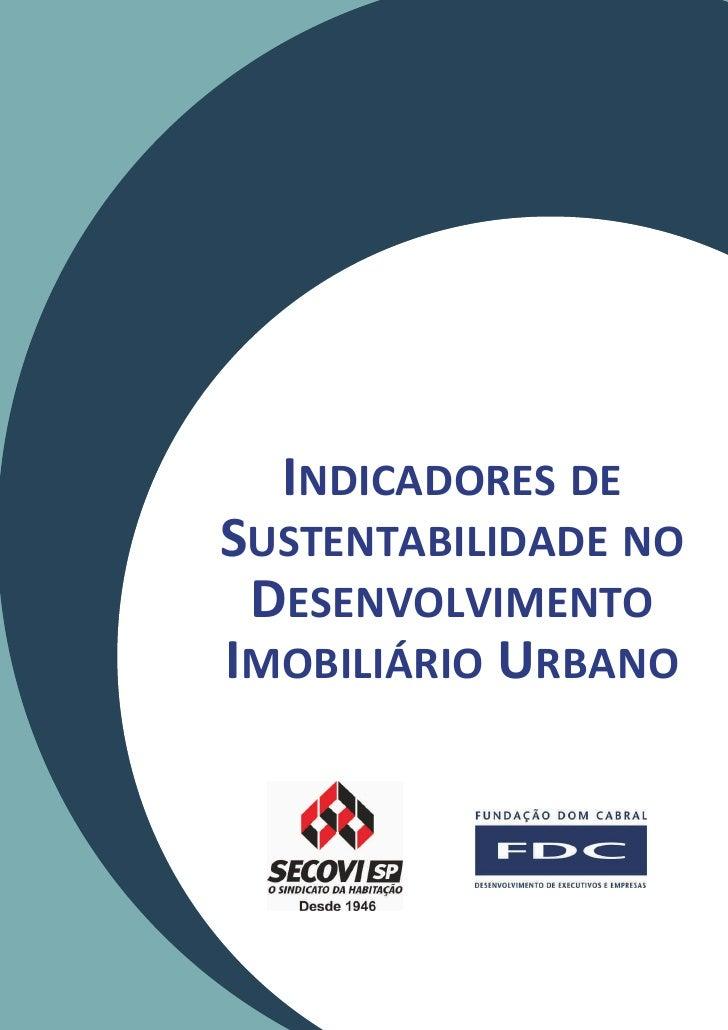 INDICADORES DESUSTENTABILIDADE NO DESENVOLVIMENTOIMOBILIÁRIO URBANO