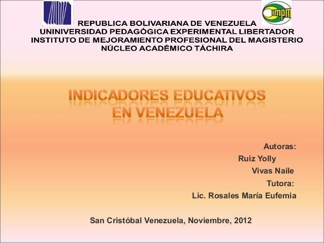 Indicadores educativos en venezuela