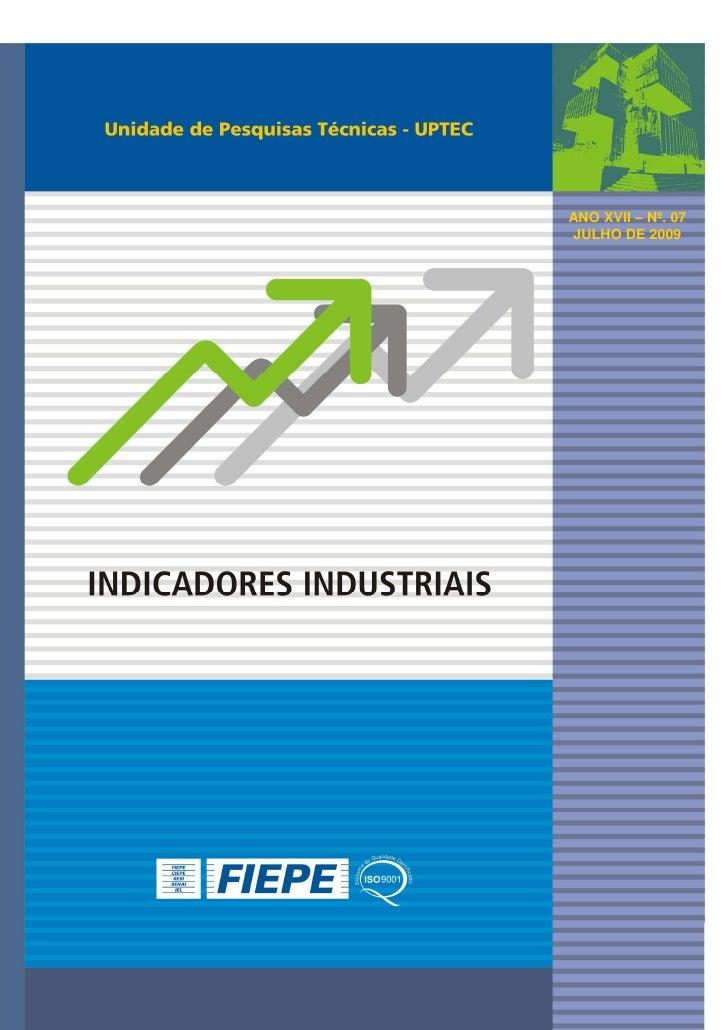Indicadores Industriais - Julho 2009