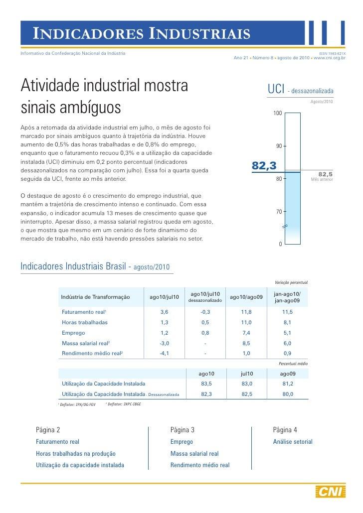 INDICADORES INDUSTRIAIS Informativo da Confederação Nacional da Indústria                                                 ...
