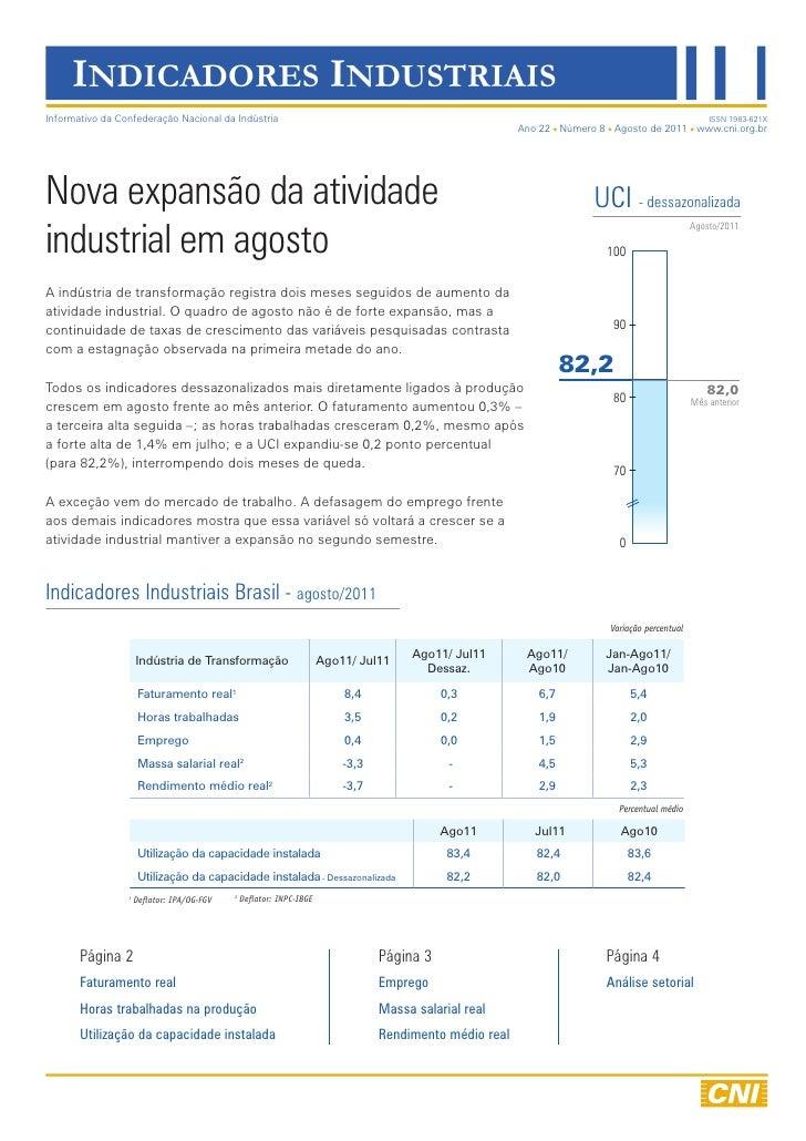 Indicadores Industriais | Agosto/2011