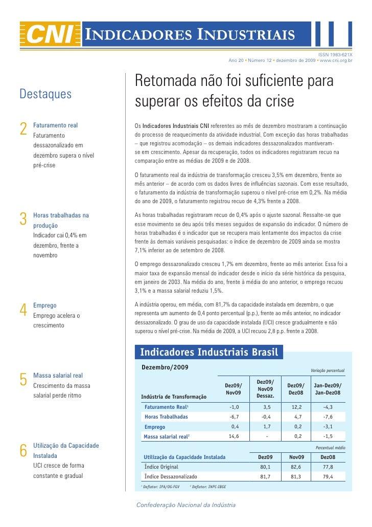 BLOG DE JAMILDO - Indicadores Industriais Dez09