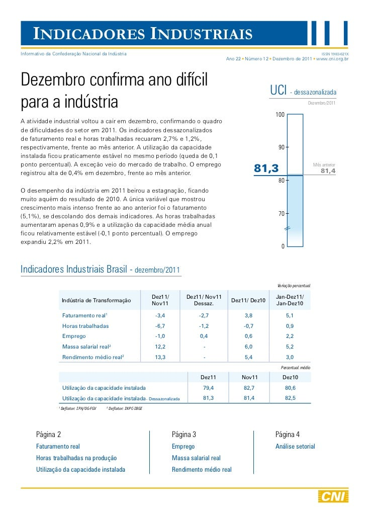 INDICADORES INDUSTRIAISInformativo da Confederação Nacional da Indústria                                                  ...
