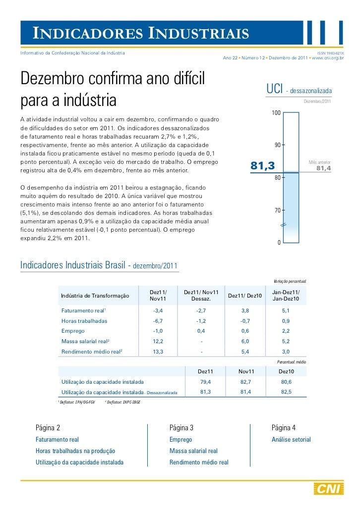 Indicadores Industriais | Dezembro 2011