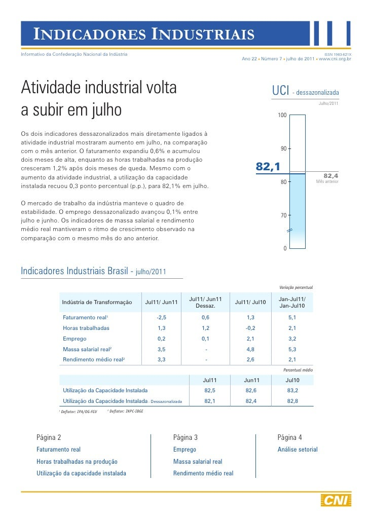 Indicadores Industriais | Julho/2011