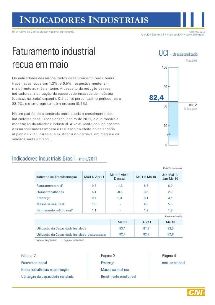 Indicadores industriais maio 2011