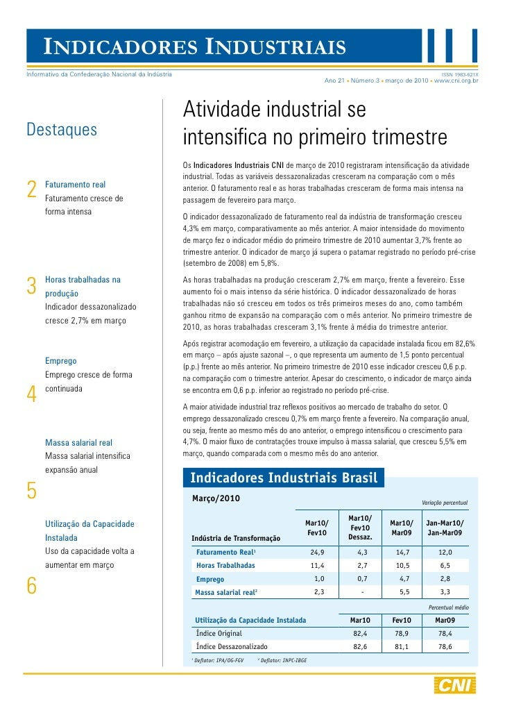 BLOG DE JAMILDO - Veja os indicadores industriais de março de 2010