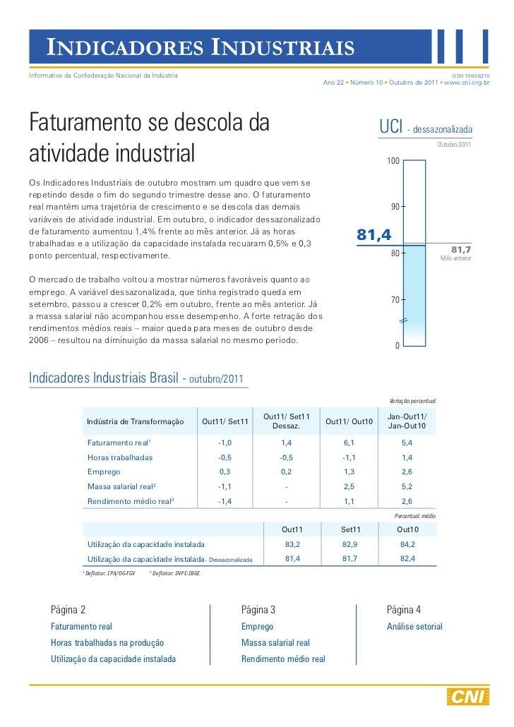 Indicadores Industriais | outubro 2011