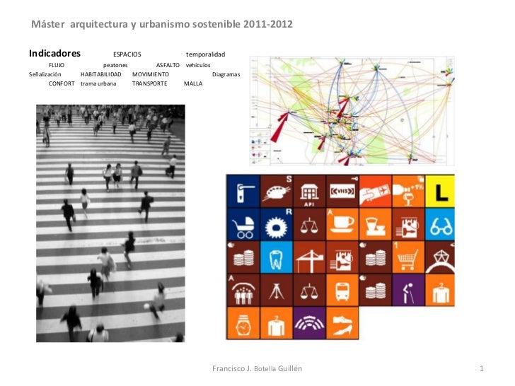 Máster arquitectura y urbanismo sostenible 2011-2012Indicadores                ESPACIOS               temporalidad       F...