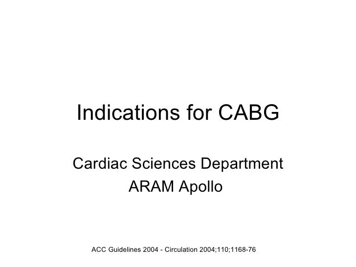 Indications For Cabg