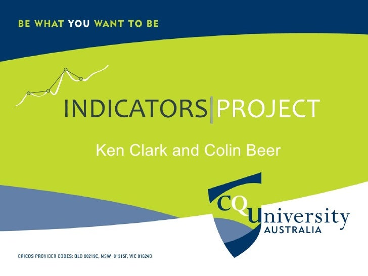 Indicators Project @ CQUniversity