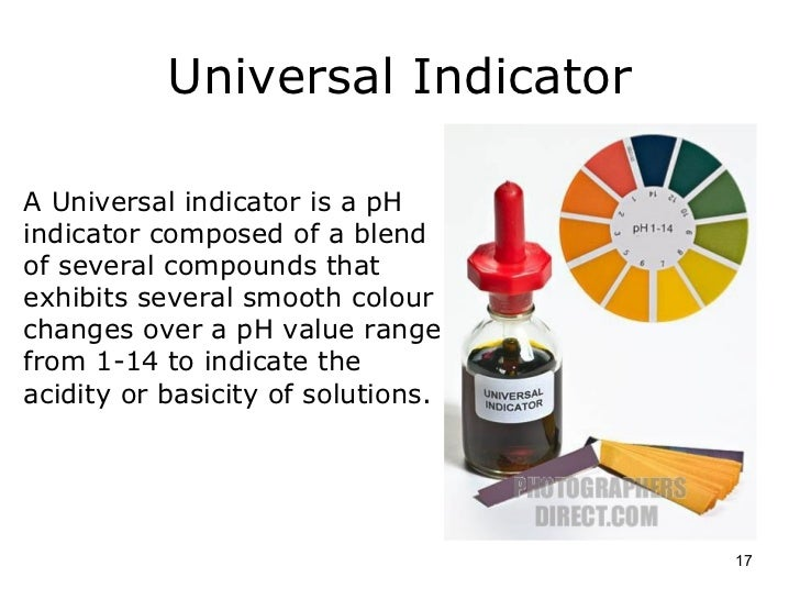 how to read ph indicator chart