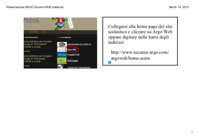 PresentazioneARGOScrutiniWEB.notebook                                   March14,2013                                 ...