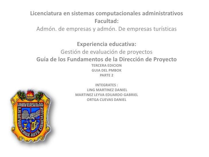 Licenciatura en sistemas computacionales administrativos                         Facultad:    Admón. de empresas y admón. ...