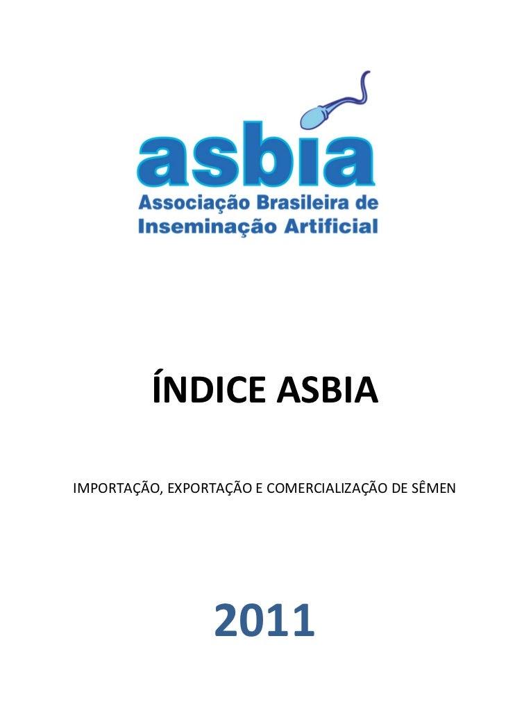 Indice asbia 2011